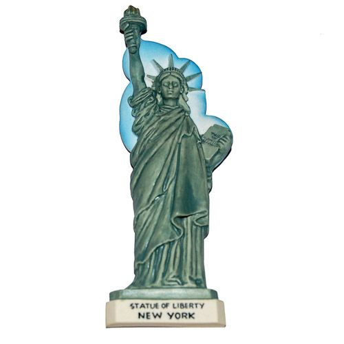 Resin Fridge Magnet: United States. New York. Statue of Liberty