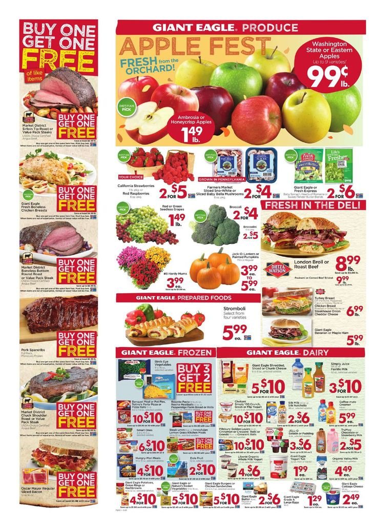 Giant Eagle Weekly Ad October 6 - 12, 2016 - http://www.olcatalog.com/grocery/giant-eagle-weekly-ad.html