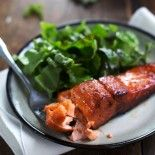 Caramelized Salmon- will use honey instead of sugar.