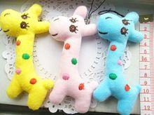 Kawaii Плюшевые 3Colors Чучела Жираф 8 СМ плюшевые Игрушки Куклы; маленькая Строка Подвеска Игрушка Кукла, подарок брелок игрушки(China (Mainland))