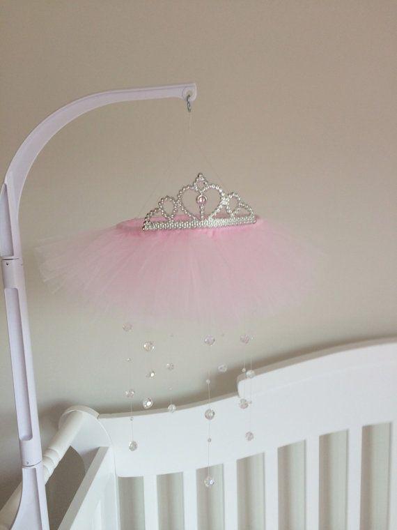Best 20 tulle crib skirts ideas on pinterest crib for Princess crib mobile