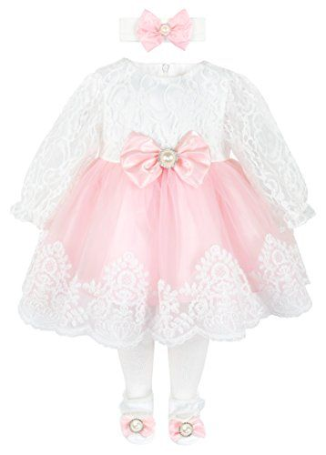 f703f4ed73 New Taffy Baby Girl Newborn Lace Long Sleeve Princess Dress Gown 6 Piece  Deluxe Set.   39.99 - 79.99  findanew offers on top store