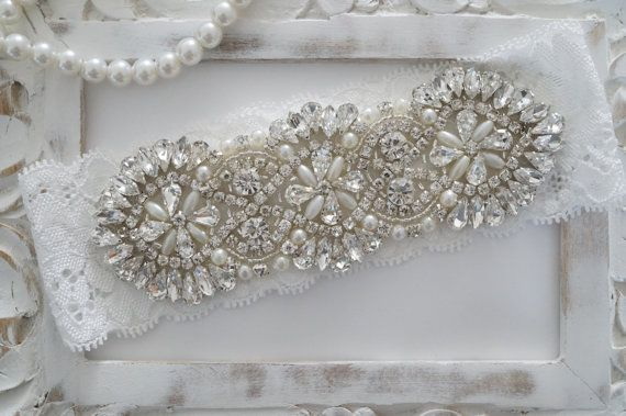 Wedding Garter Bridal Garter Vintage Wedding Pearl by OneFancyDay