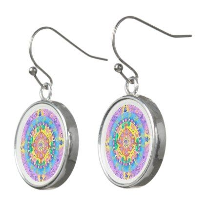 Medilludesign - Mandala Meditation Earrings - jewelry jewellery unique special diy gift present