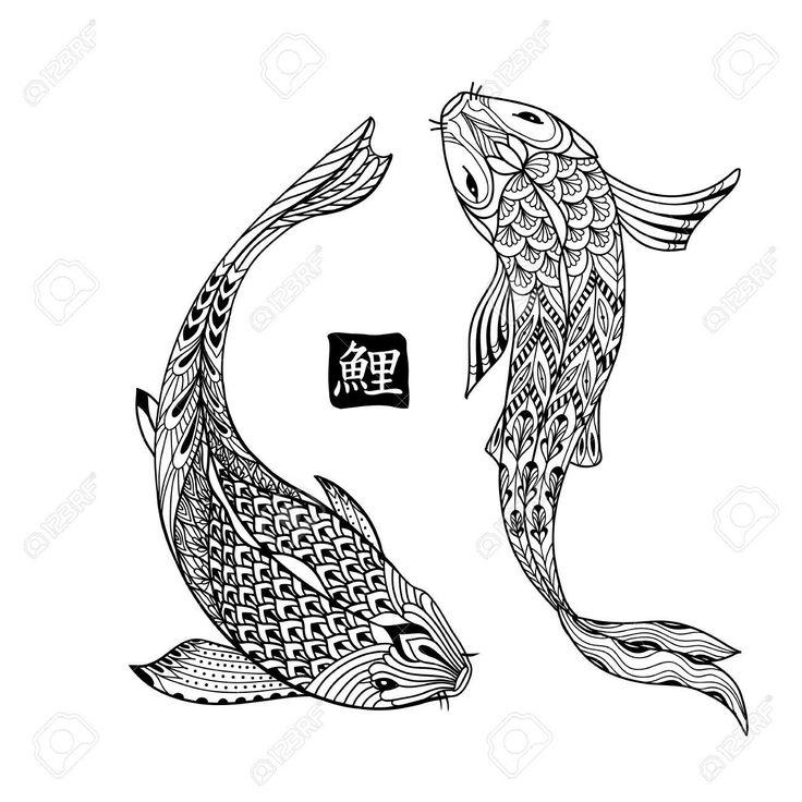 Mejores 20 imágenes de Drawings of Fish en Pinterest | Dibujos de ...