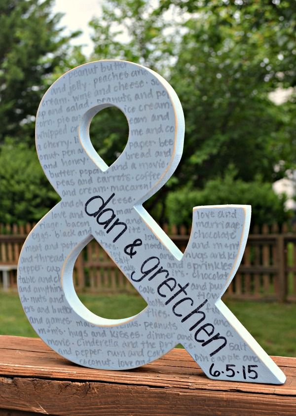 Personalized DIY Wedding Gift Idea