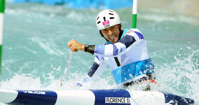 David Florence in the Canoe Slalom today
