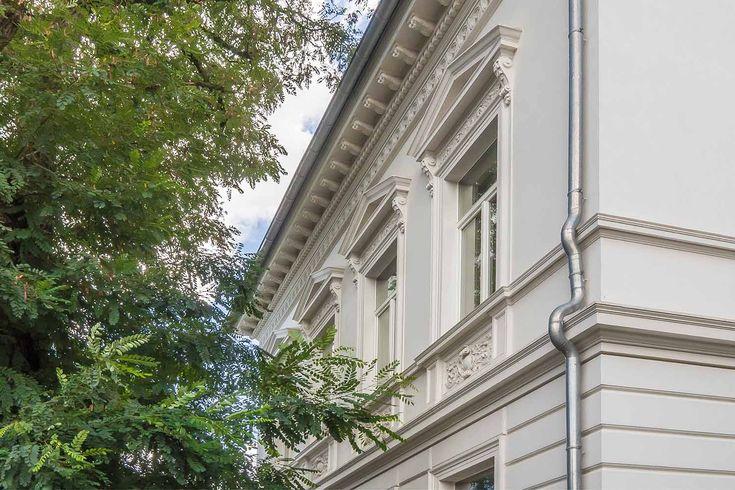 Neo-Renaissance-Fassade an der Walderstraße in Hilden (Kreis Mettmann), Tag des offenen Denkmals 2017, Hilden, Denkmalbereich Walderstraße, Denkmalschutz, Gründerzeit, Historismus
