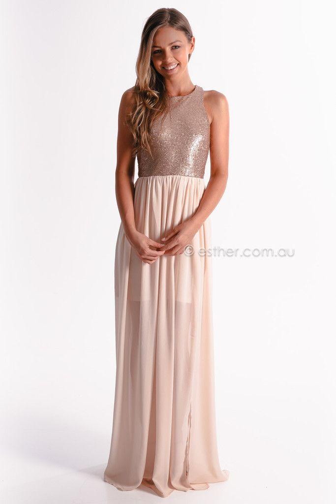 Pre-order - light the night maxi dress - blush - arrives mid october | esther.com.au | Pinterest ...