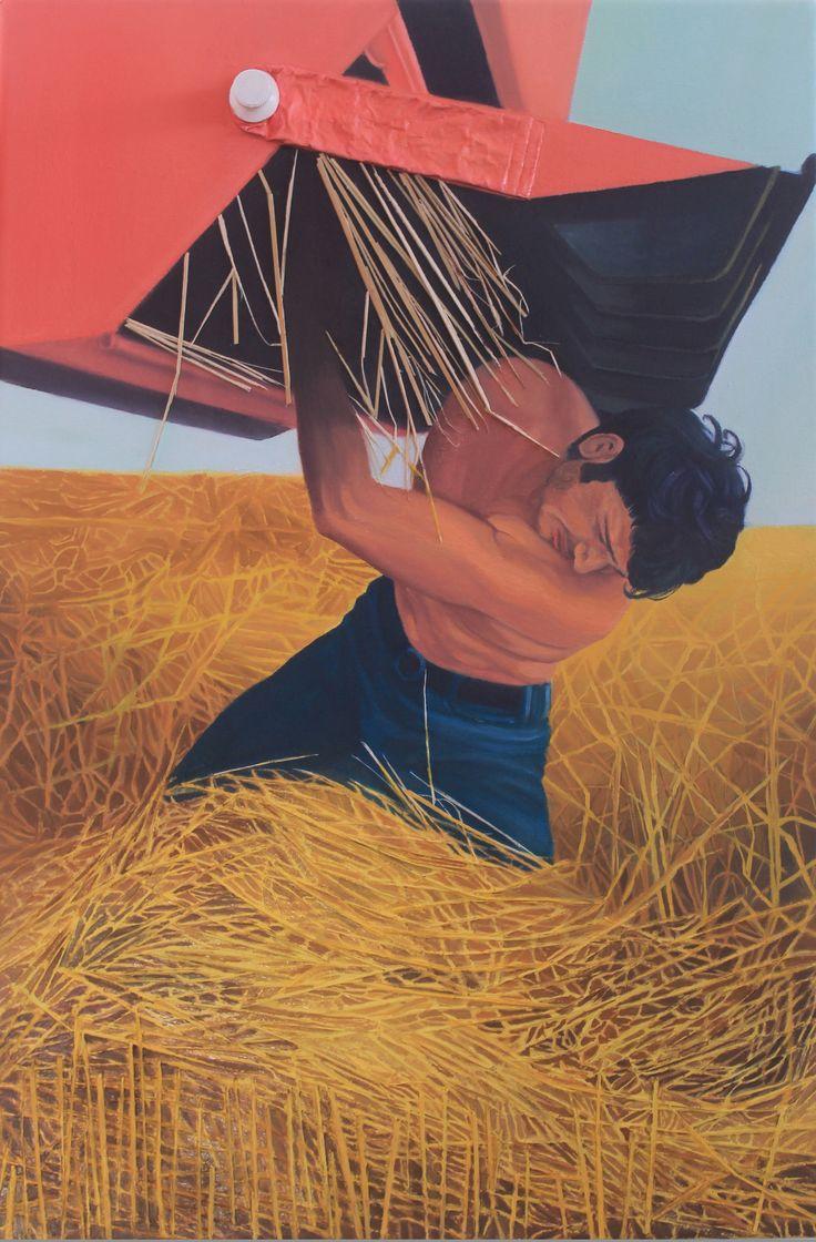 """Jammed Machine"" Técnica mixta sobre lienzo Dimensiones: 60m x 40cm (2015)"