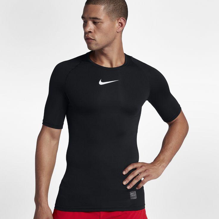 Nike Pro Men's Short Sleeve Training Top Size Medium (Black)