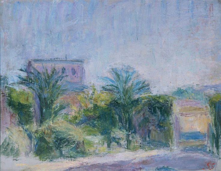 Sigrid Schauman (1877-1979), Villa Aurelia, Giancolo, Roma, 1953.
