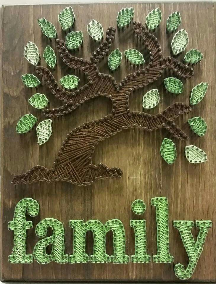 Family tree string art