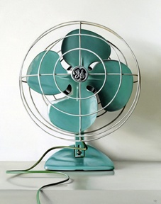 fanVintage Fans, Vintage Home, Electric Fans,  Blower, Vintage Wardrobe, Colors, Christopher Stott, Aqua, Vintage Turquoise