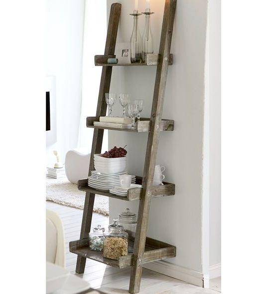 Old Repurposed Ladder In Bathroom