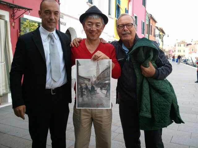 Kazuo Kasai  in Venice Italy