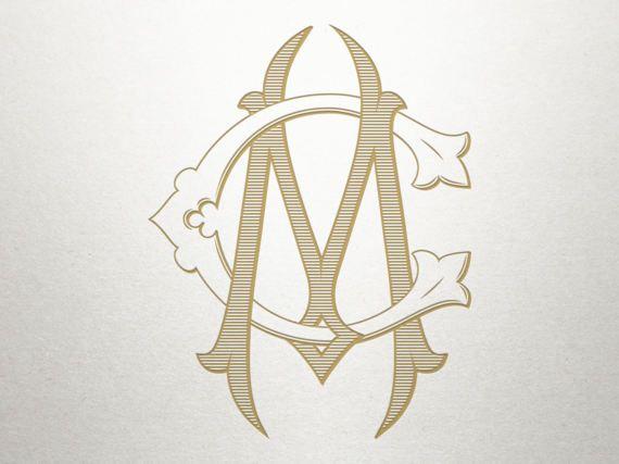Vintage Digital Monogram - CM MC - Digital Monogram ...