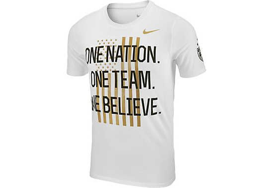 Nike USA Womens World Cup Victory Tour Tee - Men's Fit - White