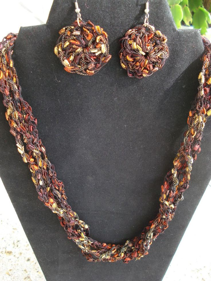 Top 50 Ideas About Crochet Necklaces Amp Earrings On