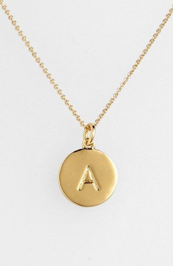 "Choose the initial that means the most to you for a shiny, gold-plated pendant suspended from a delicate rolo chain. While the initialed front salutes your sense of identity, the pendant's reverse is engraved with ""one in a million"" to affirm your personal worth. Color(s): a- gold, b- gold, c- gold, d- gold, e- gold, f- gold, g- gold, h- gold, i- gold, j- gold, k- gold, l- gold, m- gold, n- gold, o- gold, p- gold, q- gold, r- gold, s- gold, t- gold, u- gold, v-"