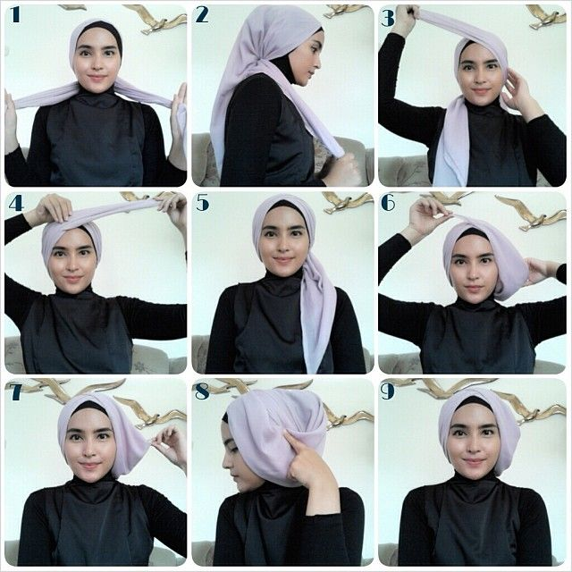 Tutorial Hijab Segi Empat Pesta ~ Fashion Hijab Terbaru | Tips ...