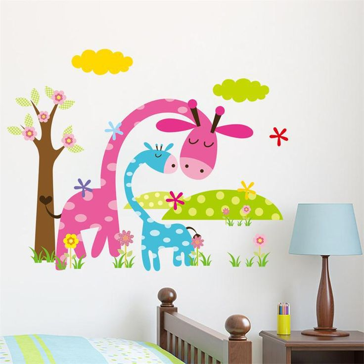 Cheap Wall Stickers, Buy Directly from China Suppliers:CD005 Candy color  jungel wild animals