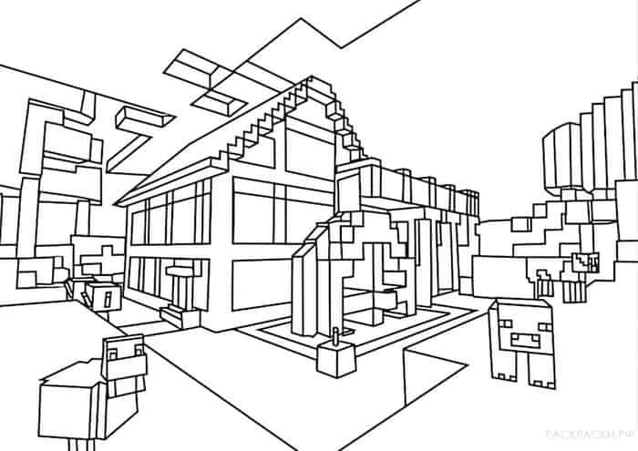 House Minecraft Coloring Pages Minecraft Coloring Pages Coloring Pages House Colouring Pages