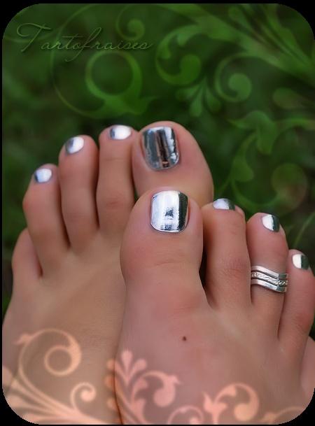 chrome pedicure