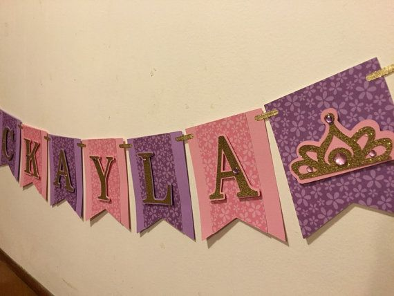 ONLY ACCEPTING ORDERS FOR PARTIES AFTER OCTOBER 23 AND SHIP ACCORDING TO DATE OF PARTY LISTED IN NOTES This listing is for an 8 letter name banner Please be sure to leave name and date of party in notes at check out. Thank you