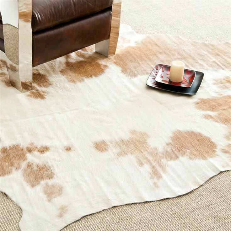 Safavieh Cow Hide Rug   Brown / White   X Ft.
