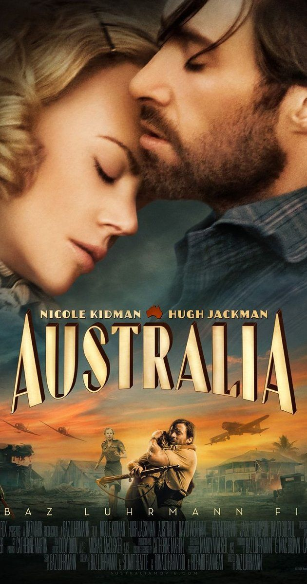 Directed by Baz Luhrmann.  With Nicole Kidman, Hugh Jackman, Shea Adams, Eddie Baroo. Set in northern Australia before World War II, an English aristocrat who inherits a sprawling ranch reluctantly pacts with a stock-man in order to protect her new property from a takeover plot. As the pair drive 2,000 head of cattle over unforgiving landscape, they experience the bombing of Darwin, Australia, by Japanese forces firsthand.