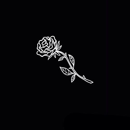 #black #aesthetic #tumblr #blackaesthetic #blacktumblr #rose in 2019 | Black, white wallpaper ...