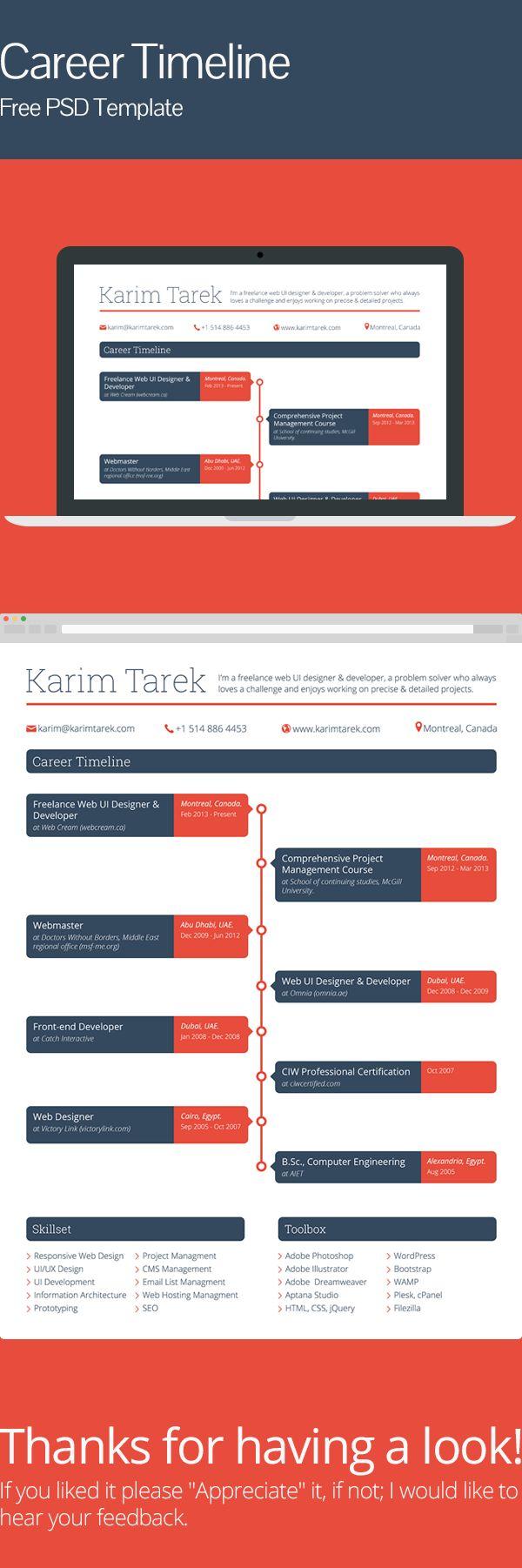 40 best Résumé images on Pinterest | Resume design, Design resume ...
