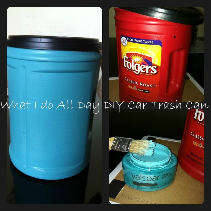 Paint Folgers cans