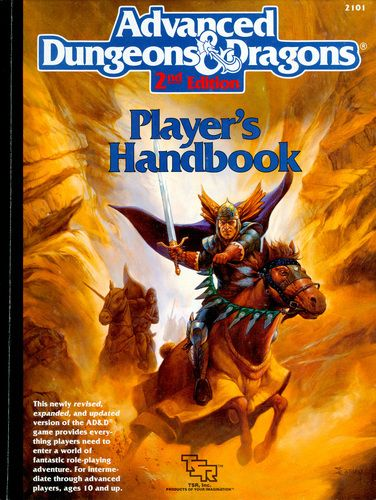 Player's Handbook - now this is the D I spent the most time with. One of my first RPG books that I read at least 50 times before ever playing my first game. When I think about D nostalgically this is what I think of.