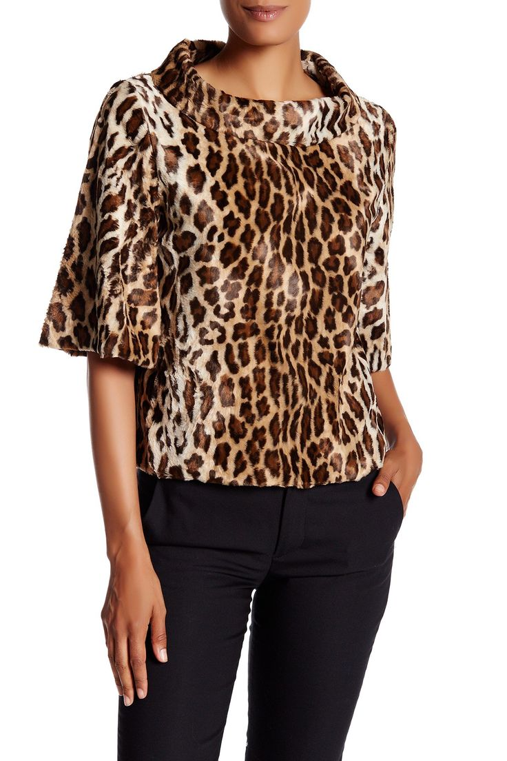 Kailee Faux Fur Pullover Cape by Trina Turk on @nordstrom_rack