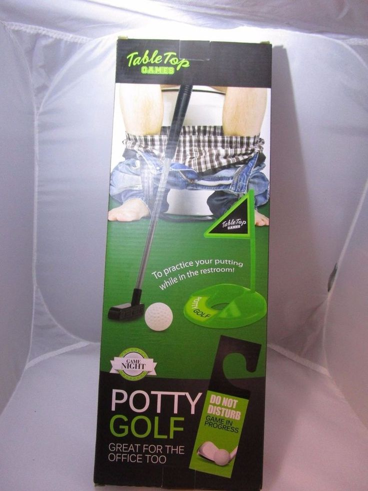 Potty Golf Putter Tee Time Toilet Golf Game by Table Top Games NEW in Box #TableTopGames