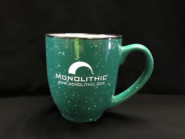 Everyone needs a good mug, and we have one for you. Our speckled green coffee mug can hold 16 oz of liquid. Don't burn your tongue! Cost: $10