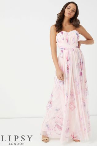 3de5e384abe06 Lipsy Rebecca Amber Printed Multiway Maxi Dress | Prom Looks ...