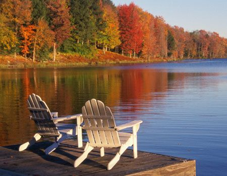 I would like to be setting there in that adirondack chair.