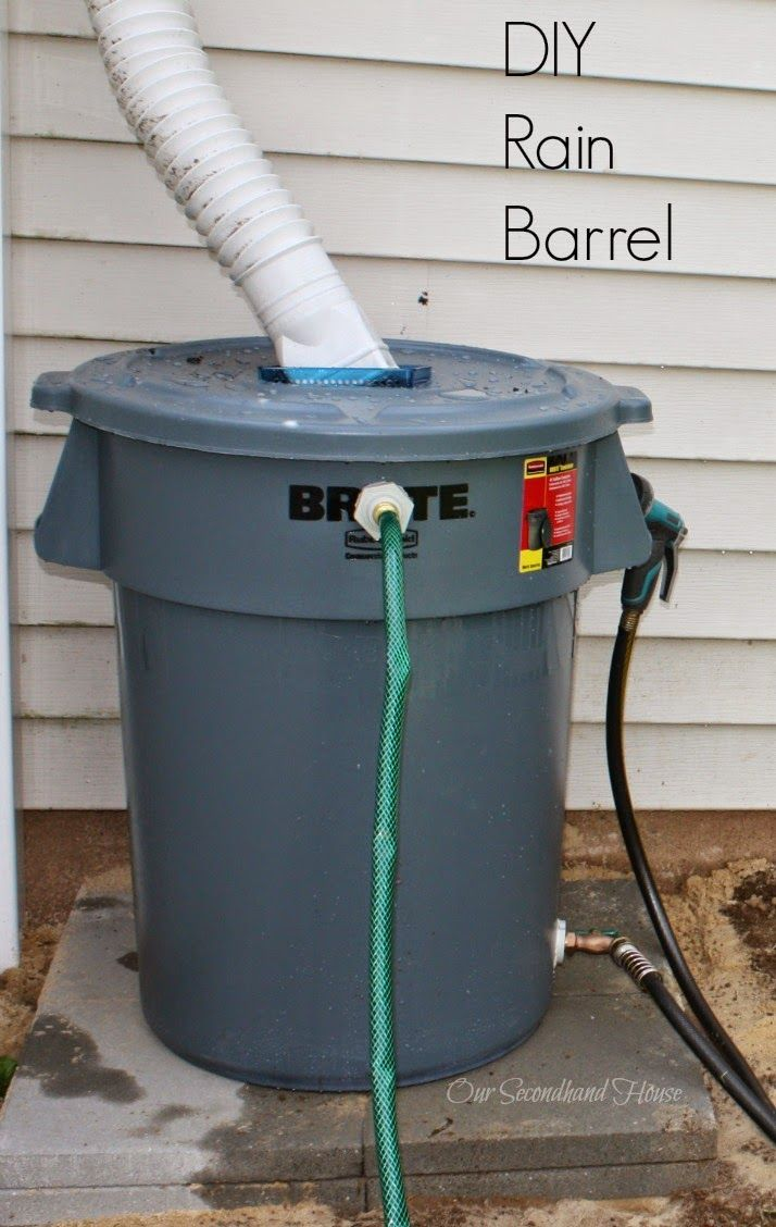 Our Secondhand House: DIY Rain Barrel. Step-by-step tutorial with pictures. FINALLY found one with easy instructions.