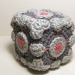 Nerdigurumi - Free Amigurumi Crochet Patterns with love for the Nerdy » » Portal 2 Playset – Chell with Weighted Companion Cube and Aperture Science Handheld Portal Device