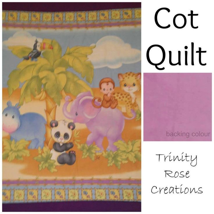 Handmade by Trinity Rose Creations Cot Quilt