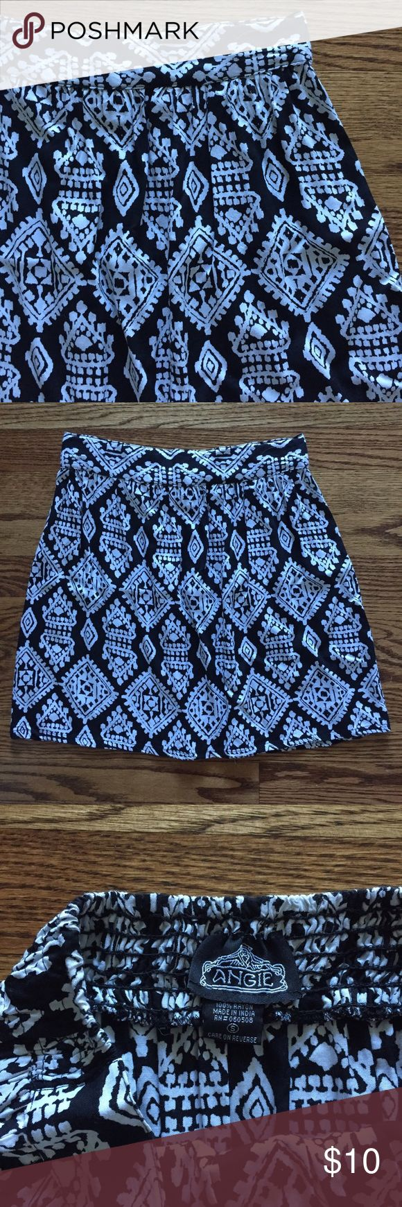 tribal print skirt black and white tribal print skirt | lightweight | worn once for a few hours and in perfect condition Skirts Mini