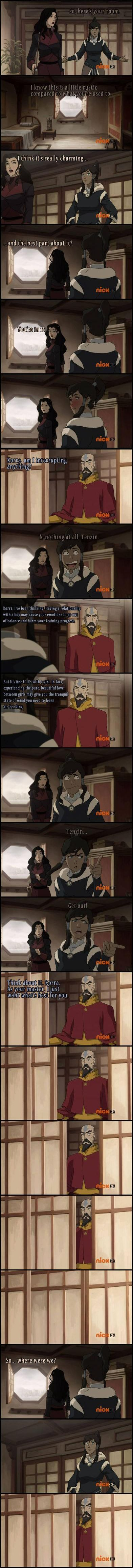Even Tenzin ships it Okay I'm not big on Korrasami, but I laughed too hard at this.