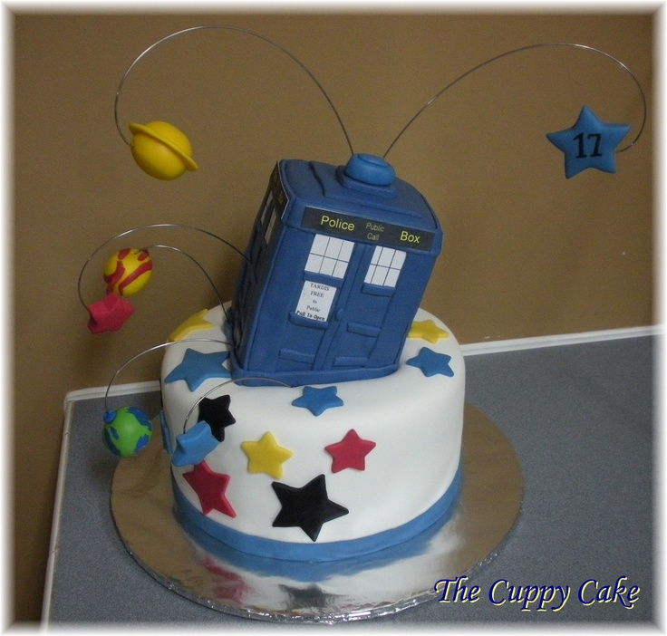 The Tardis Cake The Cuppy Cake Creative Designs https://www.facebook.com/thecuppycakery