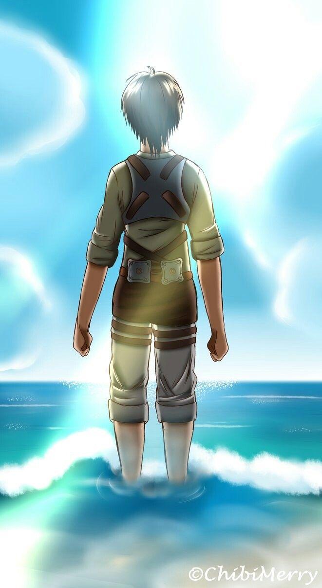 Eren At The Ocean Snk Attack On Titan Eren Jaeger Ancient Magus Bride