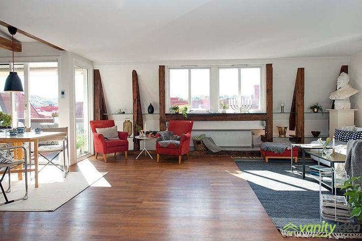warm and modern loft