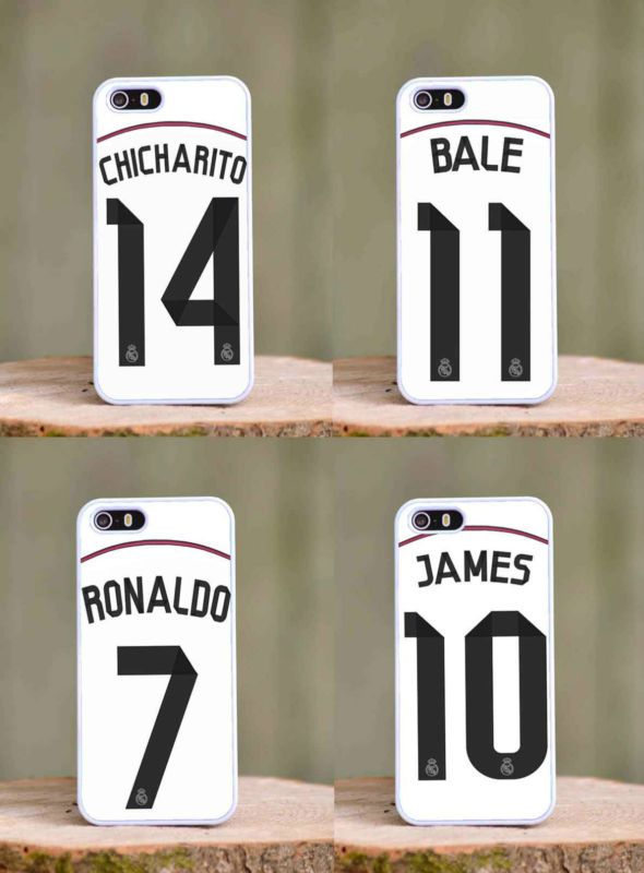 Real Madrid season 2014 2015 iphone 4 4s 5 5s 5c case cover . Ronaldo Chicharito James Bale