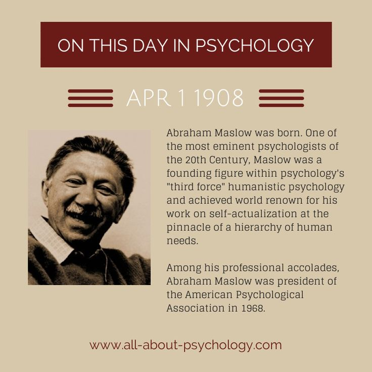 study on humanistic psychology and abraham maslow An international journal of human potential, self-actualization, the search for meaning and social change, the journal of humanistic psychology was founded by abraham maslow.